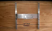 "Custom 24"" Wide R & P Aluminum Trailer Spare Tire Wall Mount Bracket"