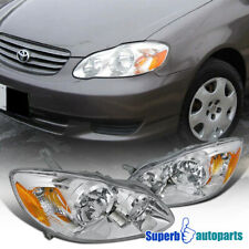 For 2003-2008 Toyota Corolla Diamond Headlights Head Lamps Replacement