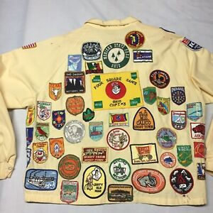 Vintage Keep On Truckin Patches Jacket Travel Tourist Camping V.F.W. Ohio Boat