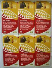 **NEW** 6 IKEA BELONING DARK CHOCOLATE WITH ORANGE, CARAMEL, ALMONDS 3.5 OZ BARS