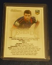 2017 NRL TRADERS LEGENDS CASE CARD - CC1 DANNY BUDERUS NEWCASTLE KNIGHTS - #101