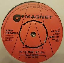 "Mandy Perryment Do You Want My Love 7"" Vinyl Record"