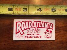 VINTAGE AMA Road Atlanta 125 Mile Road Race Decal