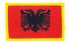 Patch écusson brodé Drapeau Albanie albanais Thermocollant Patche