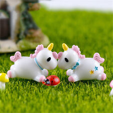 Unicorn Mini Miniature Figurine Fairy Garden Dollhouse Decor Micro Landscape AU