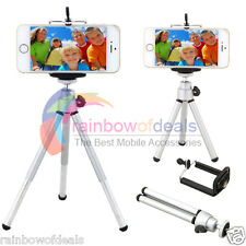 360° Rotatable Metal Stand Tripod Mount + Phone Holder for iPhone Samsung HTC LG