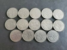 1922 to 1936 5 Cents George Canadian Nickels 14 coins -1926 Near Included #7