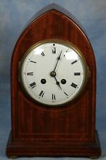 Antique French Inlaid Wood Clock 19th Century