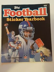 1987 TOPPS NFL National Football League Sticker Album Empty/unused