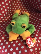 smoochy the frog beanie baby. Green And Yellow Beanie Baby Frog.