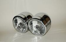 Twin Round Chrome Dominator Motorcycle Headlights GSF600 GSF1200 Bandit E-MARKED
