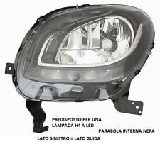 FARO FANALE ANTERIORE A LED PARABOLA NERA SINISTRO 10735 SMART FOR TWO 2014