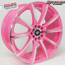 """G-Line 1026 18""""x8 Pink Machined Accents Custom Wheels Rims (x 4) FREE SHIPPING"""