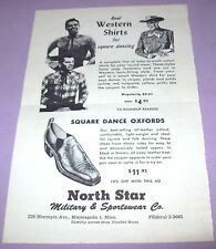 Antique Vintage Square Dancing Clothes Ad - 1950's