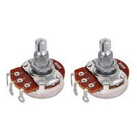 2x B500K Taper Potentiometer Pot Alpha 18mm Split Shaft for Electric Guitar