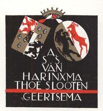 Ex Libris Jeanne Bieruma Oosting : Opus 53, A.S.S. van Harinxma Thoe Slooten ..