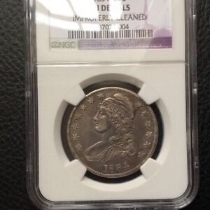 1834 Half Dollar NGC AU Details Bust 50c Fifty Cents NGC