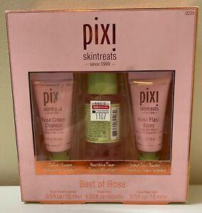 Pixi Skintreats Best of Rose 3 Piece Set Skincare Kit; Cleanser, Toner, Booster
