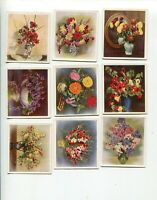 1937 GODFREY PHILLIPS CIGARETTES FLOWERS STUDIES 16 DIFFERENT CARD LOT