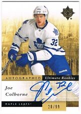 2011-12 ULTIMATE COLLECTION ROOKIE AUTOGRAPH #145 JOE COLBORNE 20/99 !!