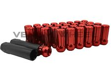 "2011-2017 RAM 2500 3500 RED SPLINE LUG NUTS AFTERMARKET WHEELS LOCKING 2"" TALL"