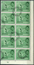 Ghana 1957 SG#167, 2.5d Independence Used Cto Plate Block Of 10 #D38304