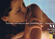 Publicité Advertising 016 1977 Ted Lapidus parfum 'Vu' (2 pages)