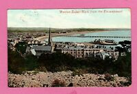 Dated 1910. Weston Super Mare from the Encampment, Somerset