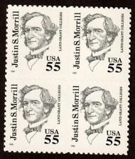 Scott 2941 55¢ Justin S. Morrill Block of 4 MNH Free Shipping!!!