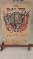 Roll Of Honor,NSW Section 1st Division AIF, WW1, November 1914, ~VERY RARE~