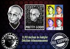 Curb Your Enthusiasm Larry David Stickers! Set Of 3! LAST ONES!!!