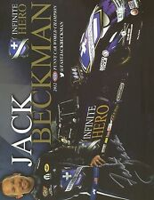 JACK BECKMAN SIGNED 8X10 PHOTO NHRA AUTOGRAPH 2012 NHRA FUNNY CAR WORLD CHAMPION