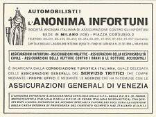 W2779 Assicurazioni Generali di Venezia - Anonima Infortuni - Pubblicità 1940