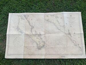 Map Nautical Gulf California Mexico West Coast Chart  1923 621 Louis Weule USS