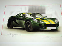 LOTUS ELISE 25 ANNIVERSARY JIM CLARK LOTUS GRAND PRIX CAR EDITION RARE PRINT