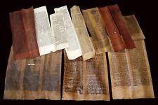 COLLECTION 17 COLUMNS ANCIENT BIBLE SCROLLS HANDWRITTEN DEER PARCHMENT 150-450