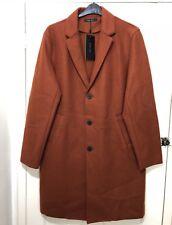 Zara Man Arancione/Marrone Misto Lana Lavorato a Maglia Cappotto Taglia XL Nuova con etichetta REF:8574/317 RRP £ 80