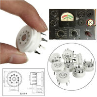 8pcs 9 Pin Ceramic Tube Socket Valve Base for 12AX7 12AU7 ECC83 Chassis Mount