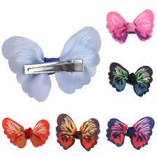 10 Pcs Cute Kids Girls Toddler Baby 3D Butterfly Hair Clip Grosgrain Hairpin