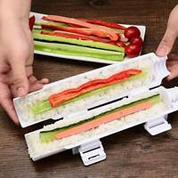 Sushi Maker Tool Roll Meat Vegetables Bazooka Rice Mould DIY Sushis Mold Tube AU