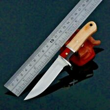 Straightback Knife Fixed Blade Hunting Wild Tactical Combat Military Wood Handle