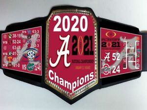 Alabama Crimson Tide 2020 CFP National Champions Championship Belt