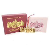 Vintage Christmas Ornament Collection Biltmore Estate 24K Gold Finish
