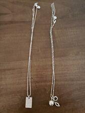 Touchstone crystal swarovski necklace. Lot of 2.