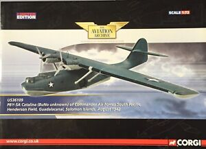 CORGI AVIATION 1:72 PBY-5A CATALINA (BuNo unknown) GUADALCANAL 1942 US36109 NEW