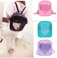 Japan Wego Girls Kawaii Transparent Clear Love Shoulders School Bag Backpack