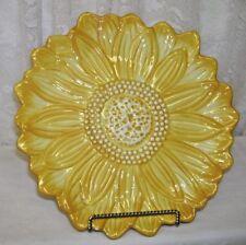 Dessert or Decorative Autumn Sunflower Plate