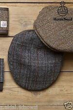 Flat Cap With Harris Tweed Wool Grey or Brown Size S/M  New (83)