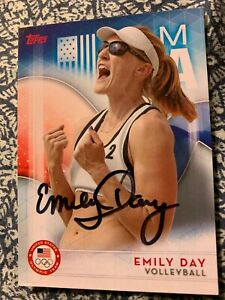 EMILY DAY AUTOGRAPHED VOLLEYBALL CARD
