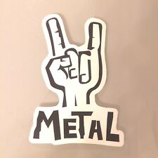 Metal Rock Puck Fingers Sticker Skateboard Guitar Bike Car Vinyl Laptop Decal